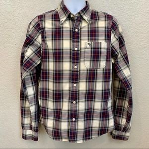 Abercrombie & Fitch Plaid Muscle Button Down, Sz M